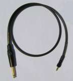 "Sennheiser Wireless Cable - Black Canare GS-6 Cable, 1/8"" TRS Locking to 1/4"" Straight Plug - 3 Feet"