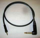 "Sennheiser  Wireless Cable - Black Canare GS-6 Cable, 1/8"" TRS Locking to 1/4"" Right Angle Plug - 3 Feet"